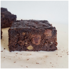 Banana choc chip brownie