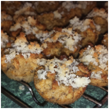 coconut mini muffins